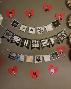 This item is unavailable Office Birthday, 10th Birthday, Diy Birthday, Korean Birthday, Birthday Banners, Birthday Party Decorations, Cute Diy Room Decor, Kpop Diy, Bts Birthdays