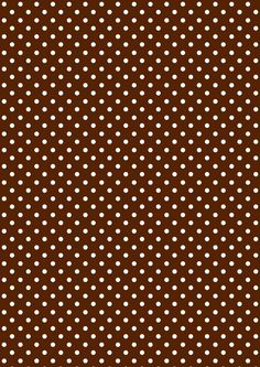 FREE printable polka dot pattern paper ^^ | chocolate brown and whipped cream white