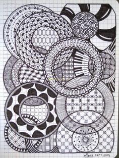 ZT Scribbles 10 - Circles, by Miekrea NL - Sept. 2013