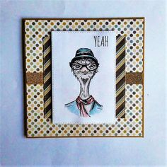 Tim Holtz Hipster stamp card #clairescraftboutique