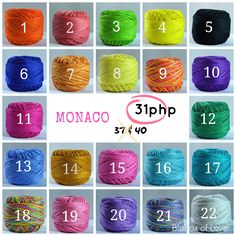 Monaco Mercerized Cotton Thread