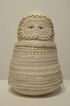 """Babushka"" by Julie Moon Modern Ceramics, Ceramic Art, Pottery, Sculpture, Owls, Artworks, Drawing, Design, Inspiration"