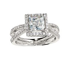 Beautiful Princess Cut Diamond Engagement Ring by Cordova.  Available at Alson Jewelers.