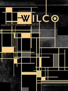 clean, simple, beautiful. wilco posters are always outstanding.