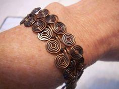 Copper coiled bracelet