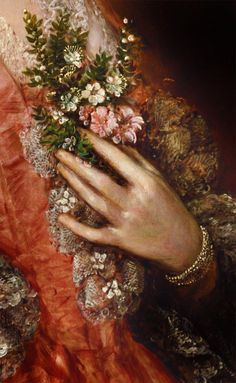 ": "" ""Mary Little, later Lady Carr"" (c. 1763) (detail) by Thomas Gainsborough (1727-1788). """