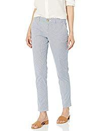 Tommy Hilfiger Women's Hampton Chino Pant (Regular and Plus Sizes) Pants For Women, Clothes For Women, Tommy Hilfiger Women, Fashion Boutique, The Hamptons, Stripe Pants, Plus Size, Women's Pants, Womens Fashion