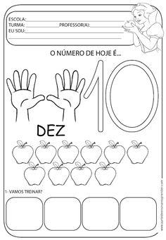 A Arte de Ensinar e Aprender: Atividade pronta - Numeral 10