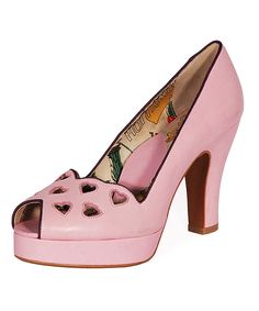 Look what I found on #zulily! Miss L Fire Lilac Heartbreaker Leather Pump by Miss L Fire #zulilyfinds