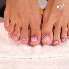 Toe Nail Designs Simple, Nail Designs Toenails, Gel Toe Nails, Acrylic Toe Nails, Feet Nail Design, Pedicure Designs, Feet Nails, Purple Toe Nails, Pretty Toe Nails