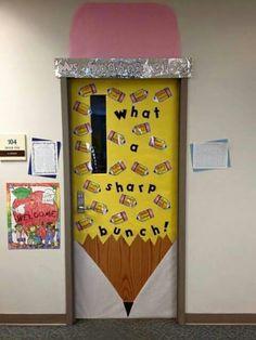"""What a sharp bunch!"" door decor."