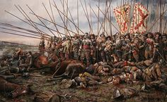 """Augusto Ferrer Dalmau Scene of the Battle of Rocroi end of the spanish hegemony in Europe, dominated until then by his fearsome infantry, the """"Tercios"""". Military Art, Military History, Medieval, Thirty Years' War, Landsknecht, French Army, Historical Art, European History, Modern Warfare"""
