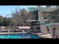 Bucks legend and NBA great Kareem Abdul Jabbar dives into a pool in preparation for his debut in the ABC reality series, Splash.