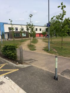 these trees have been planted where the desire path would be.