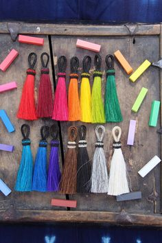 """Solid Brights Large Dyed Horse Hair Tassels, Handmade, Craft, Jewelry Making Supply Rustic, Western, Boho, Choose your Color, 4.5"""" 1 Tassel"""