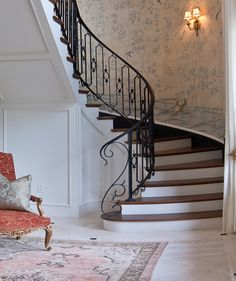 Chinoiserie Wallpaper Up The Staircase