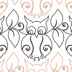 Snowy Owl - Paper - - Quilts Complete - Longarm Continuous Line Quilting Patterns Quilting Stencils, Quilting Templates, Longarm Quilting, Free Motion Quilting, Quilting Ideas, Owl Patterns, Quilt Patterns, Owl Quilt Pattern, Machine Quilting Patterns