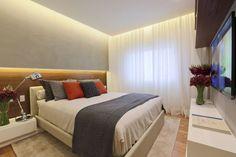 Fernanda Marques. Lighting feels very even in this bedroom.