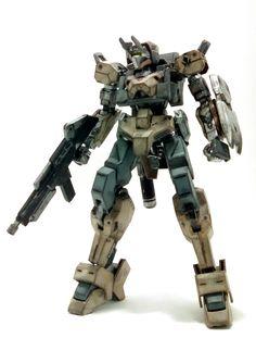HG Gundam  IBO 1/144 Io Frame Shiden/ Option Set 6 custom by Zazza