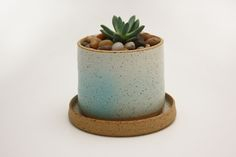 Stak Planter and Saucer