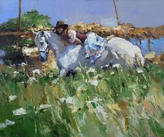 Summer in Village<br><i>(price request)</i> - Alexi Zaitsev - Sale of paintings and other art works