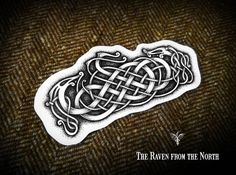 "118 Likes, 7 Comments - Kuba Vaniš (@theravenfromthenorth) on Instagram: ""Another viking knotwork in the serie. I think I'll take a short brake from drawing norse style…"""