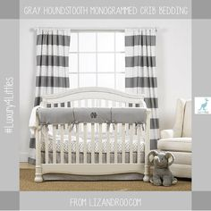 Gray And White Nursery Gender Neutral Baby Bedding Crib