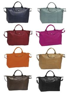 Longchamp Le Pliage Cuir as known as the Famous Folding Bag in Leather. Don't be envious - it could be yours!