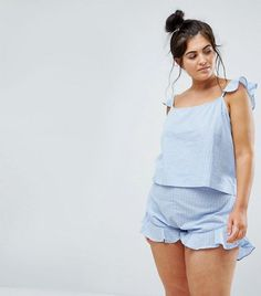 Discover the latest fashion trends with ASOS. Shop the new collection of clothing, footwear, accessories, beauty products and more. Order today from ASOS. Cute Pajama Sets, Cute Pajamas, Pajamas Women, Summer Pajamas, Asos Curve, Night Suit For Women, Mode Glamour, Doll Dress Patterns, Shirt Patterns
