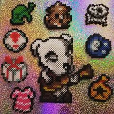 I have been a huge fan of Animal Crossing ever since it came out for GameCube and I play New Leaf for the ds everyday. ☺ honestly, I like the people in my town more than I like my real friends sometimes lol Pearler Bead Patterns, Perler Patterns, Pixel Art Objet, Perler Beads, Stitch Games, Art Perle, Hama Beads Design, Perler Bead Art, Nerd