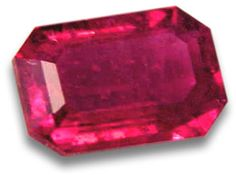 """Faceted Red Beryl / Bixbite  GMI is marketing the product as """"red emerald,"""" and touts it as one of the rarest gemstones in the world. Prices run as high as $10,000 per carat for top specimens. Most red beryl specimens are under one carat. A 2 to 3 carat stone would be considered very large."""