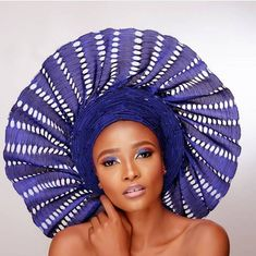 Autogele with crystals African Head gear Gel Party Guest African Lace, African Dress, African Wear, African Style, African Attire, African Beauty, Everyday Hairstyles, Afro Hairstyles, Scarf Packaging
