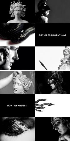 """Medusa was a ravishingly beautiful maiden, but because Poseidon had raped her in Athena's temple, enraged Athena transformed Medusa's hair to serpents and made her face so terrible to behold that the mere sight of it would turn onlookers to stone. But Medusa's """"punishment"""" was not a punishment at all but rather a gift from the goddess. Athena could not punish Poseidon for what he'd done so she made sure Medusa would never be at the mercy of a man again."""