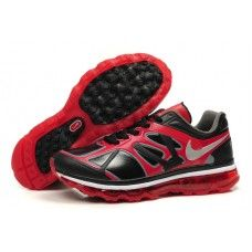 Hommes Nike Air Max 2012 Leather Noir/Rouge