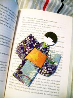 Origami Kimono Bookmark #howto #tutorial