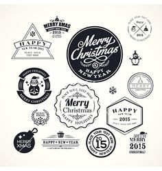 Christmas decoration frame design elements vector - by kraphix on VectorStock®