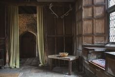"""mysterious, enchanting, romantic…don't you know you could live an epic love affair in this room. haddon hall, peak district, u.k. """