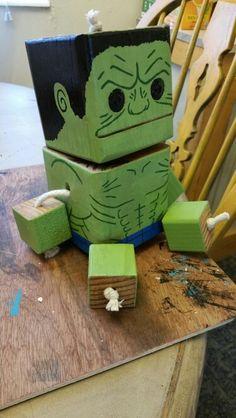 Hulk - wood toy, natural wood, wood robot, DIY toy #woodtoy