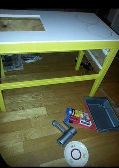 Children's play kitchen in progress