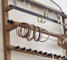 awesome wallmount jewelry hanger from Pottery Barn at 99 Im
