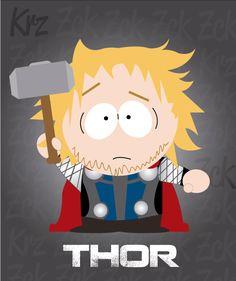 "Avengers-SouthPark ""Thor"" Fan Art 02  #ZckoreCartoons"