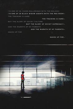 Black Widow, Natasha Romanoff - Do you know what it's like to be unmade?