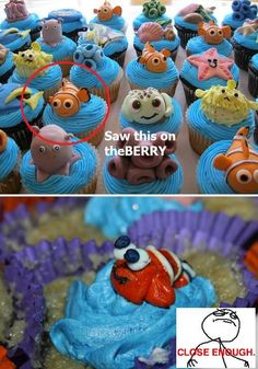 I see people trying stuff off pintrest all the time with not quite the result they wanted so this is great for that.  The cupcake doesn't even look baked.