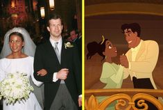 the real princess angela of liechtenstein and Tiana from the Princess and the Frog