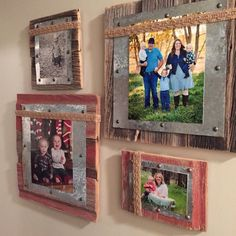 10 DIY home décor wood projects Simphome is part of Barn wood picture frames - If you have plans to redécor your home with oldfashioned and rustic look, then these 10 DIY home décor wood projects will inspire you Picture Frame Crafts, Barn Wood Picture Frames, Picture On Wood, Photo Frame Ideas, Unique Picture Frames, Diy Photo, Cadre Photo Diy, Marco Diy, Barn Wood Projects