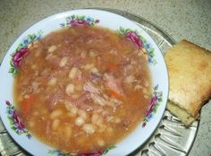 Navy Bean And Ham Soup (in a crock-pot) Recipe