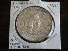 50 Soles de Oro Peru 1971 0.8 Silver Coin KM256 Obverse #coins #silver #peru #numismatic Tupac Amaru