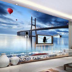 custom photo 3 d wallpaper wall murals living room home decor wood wallpaper 3d City building mural wall papers custom size