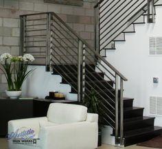 Custom Stainless Steel Stair Rails