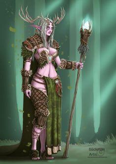 Night Elf Druid by BackmanArts